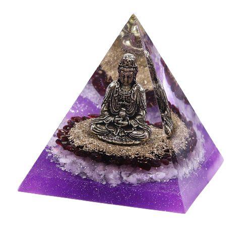 pyramide orgonite bouddha