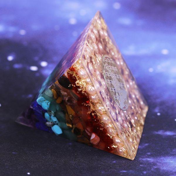 pyramide orgonite 7 chakras