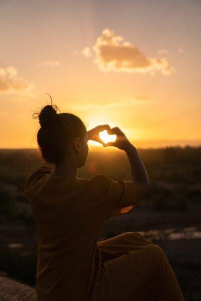 amour coeur coucher soleir