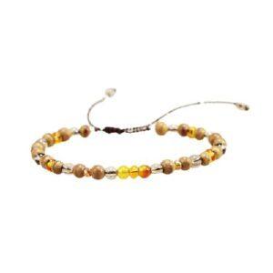 Bracelet Tibétain en Perle de Citrine