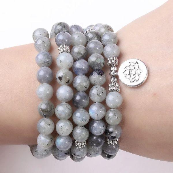 bracelet mala pierre de labradorite