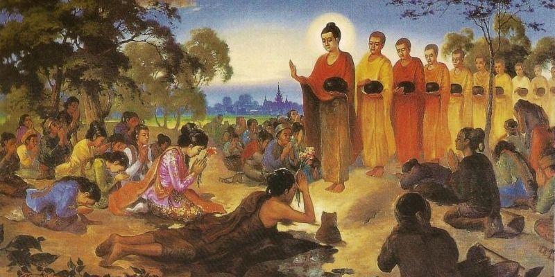 peinture représentant la sagesse de bouddha
