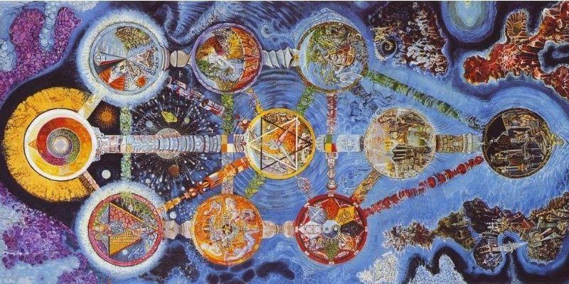 dessin arbre de vie kabbale
