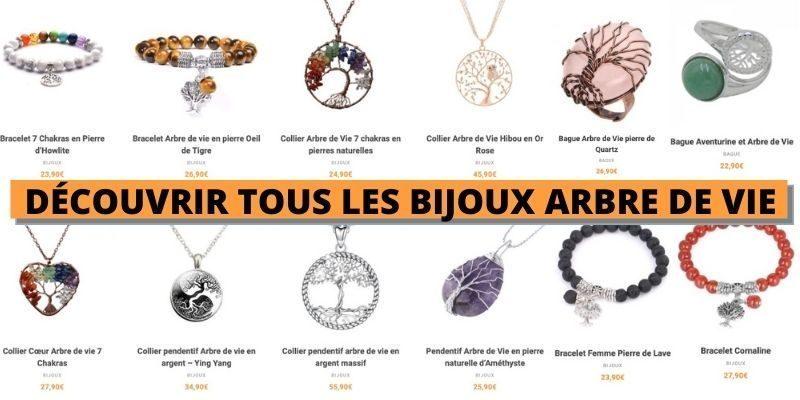 voir la collection de bijoux arbre de vie