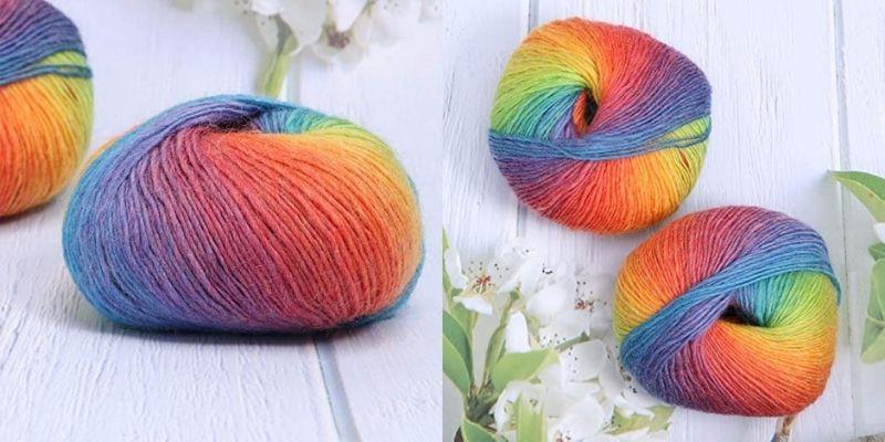 pelote de laine coloré