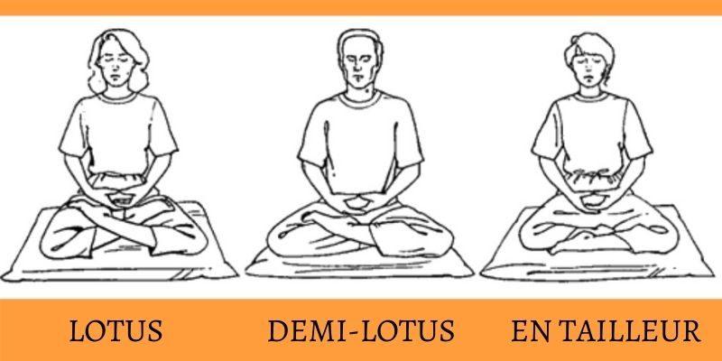 les postures de méditation assise